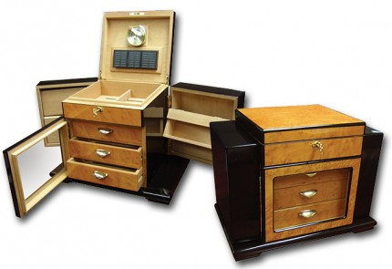 THE Baccus Contemporary Modern Art Deco Humidor Box for Sale