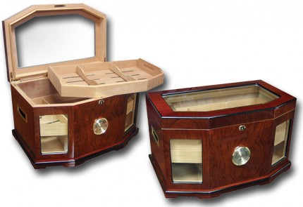 THE Versaille Glass Top Humidor - Humidor Supply