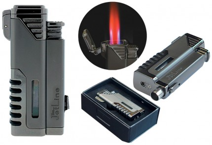 Gotham Quad Torch Lighter with RED Flame