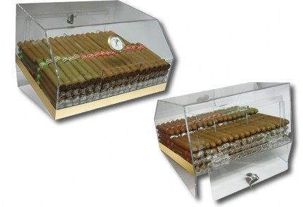 THE Laurence Countertop See-Through Acrylic Humidor
