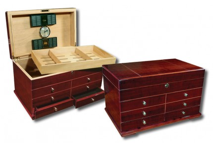 THE Windsor Large Desktop Humidor with Drawers