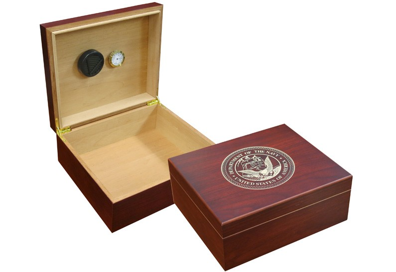Navy Cigar Humidor Out Of Box (Cherry)