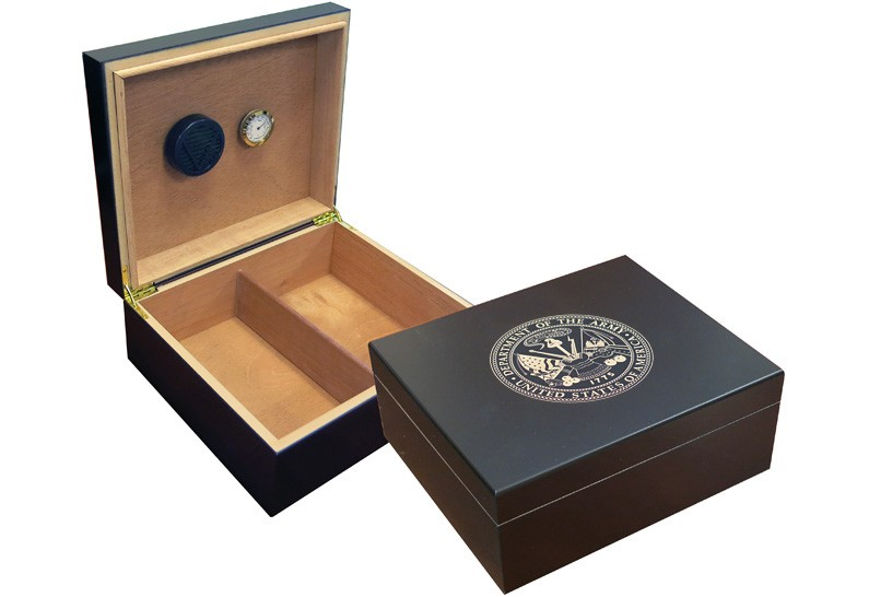 Army Cigar Humidor (Black)