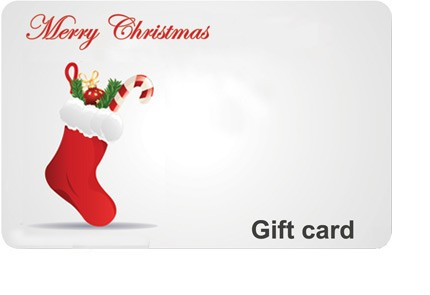Christmas Stocking Gift Card