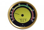 Gold Round Digital Hygrometer