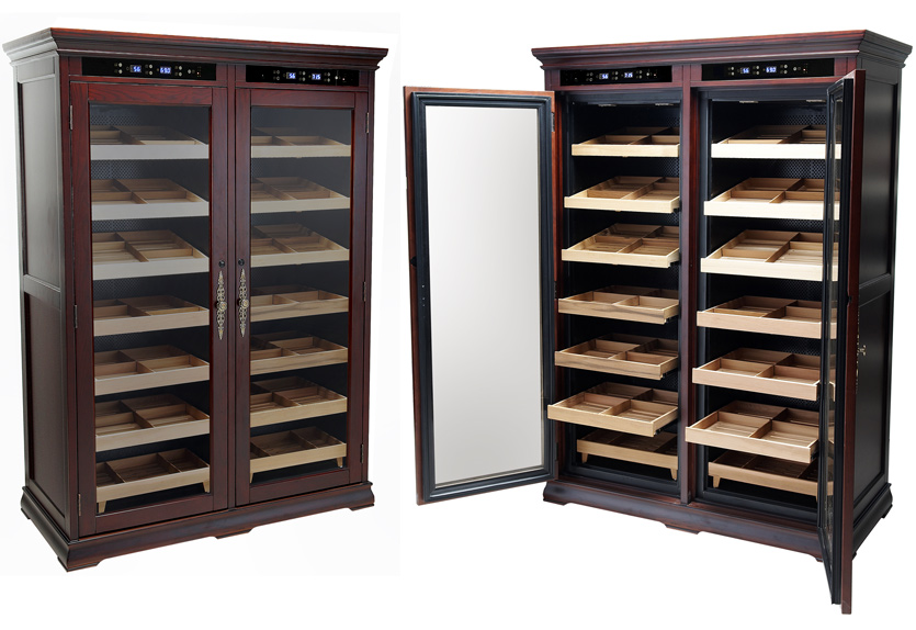 Humidor Furniture Dual Zone Electronic Temperature Humidors Cigar Cabinet with ...