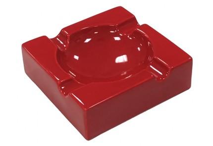 Large High Gloss Red Ceramic Ashtray
