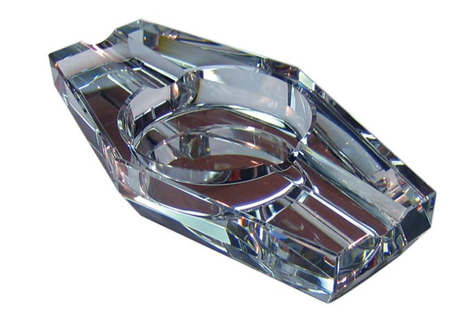 Hexagon Crystal Cigar Ashtray