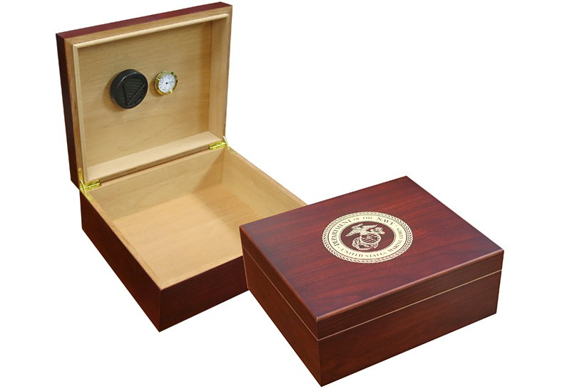 Marines Cigar Humidor (Cherry)