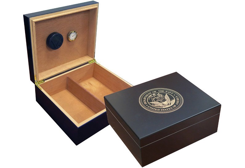 Navy Cigar Humidor (Black)