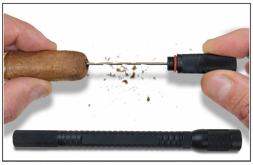 Spartan 4-in-1 Cigar Draw Tool (Black)