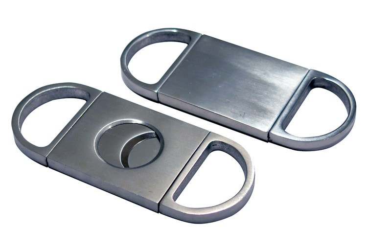 "Silver ""Precision Cut"" Cigar Cutter"