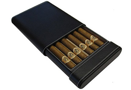 6 Cigar Leather Case Humidor