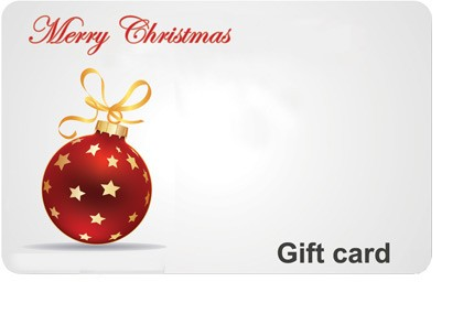 Christmas Ornament Gift Card