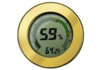Digital Hygrometer w/ Calibration (Gold)