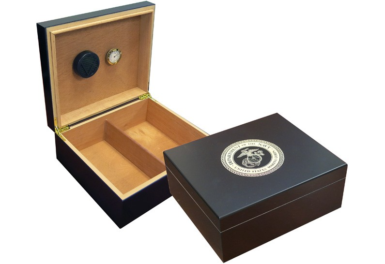 Marines Cigar Humidor (Black)