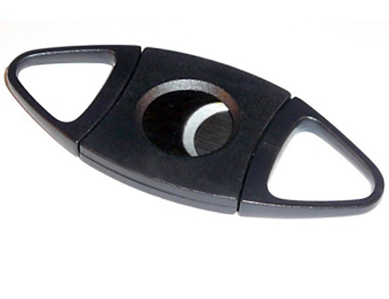 Black Double Blade Cigar Cutter