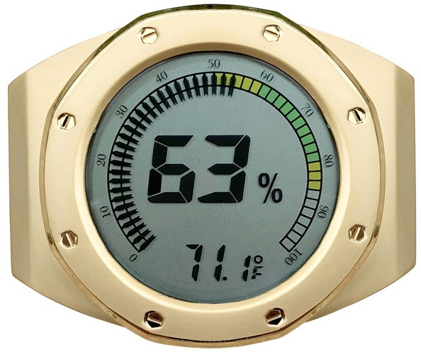 Watch Bezel Digital Hygrometer (Gold)