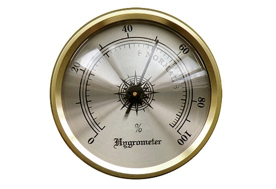 Analog Brass Frame Hygrometer