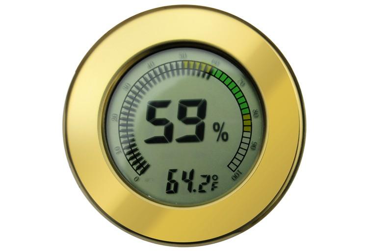 Digital Hygrometer w/ Calibration (Gold)