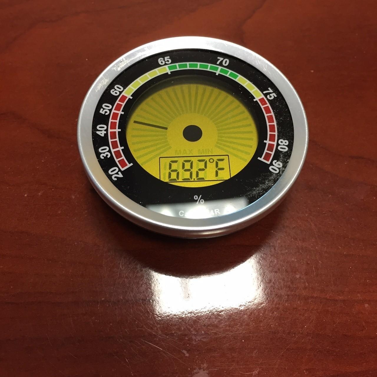 Silver Round Digital Hygrometer