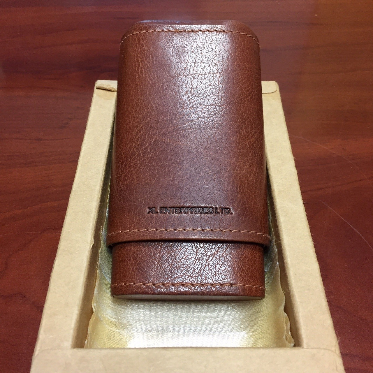 3 Cigar Genuine Leather Case