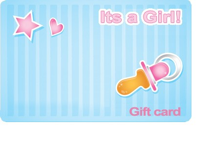 It's a Girl Gift Card