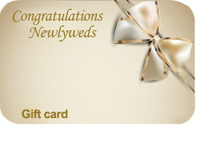 Wedding Newlyweds Gift Card