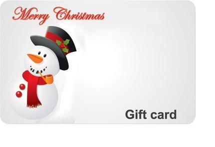 Christmas Snowman Gift Card