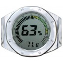 Watch Bezel Digital Hygrometer (Silver)