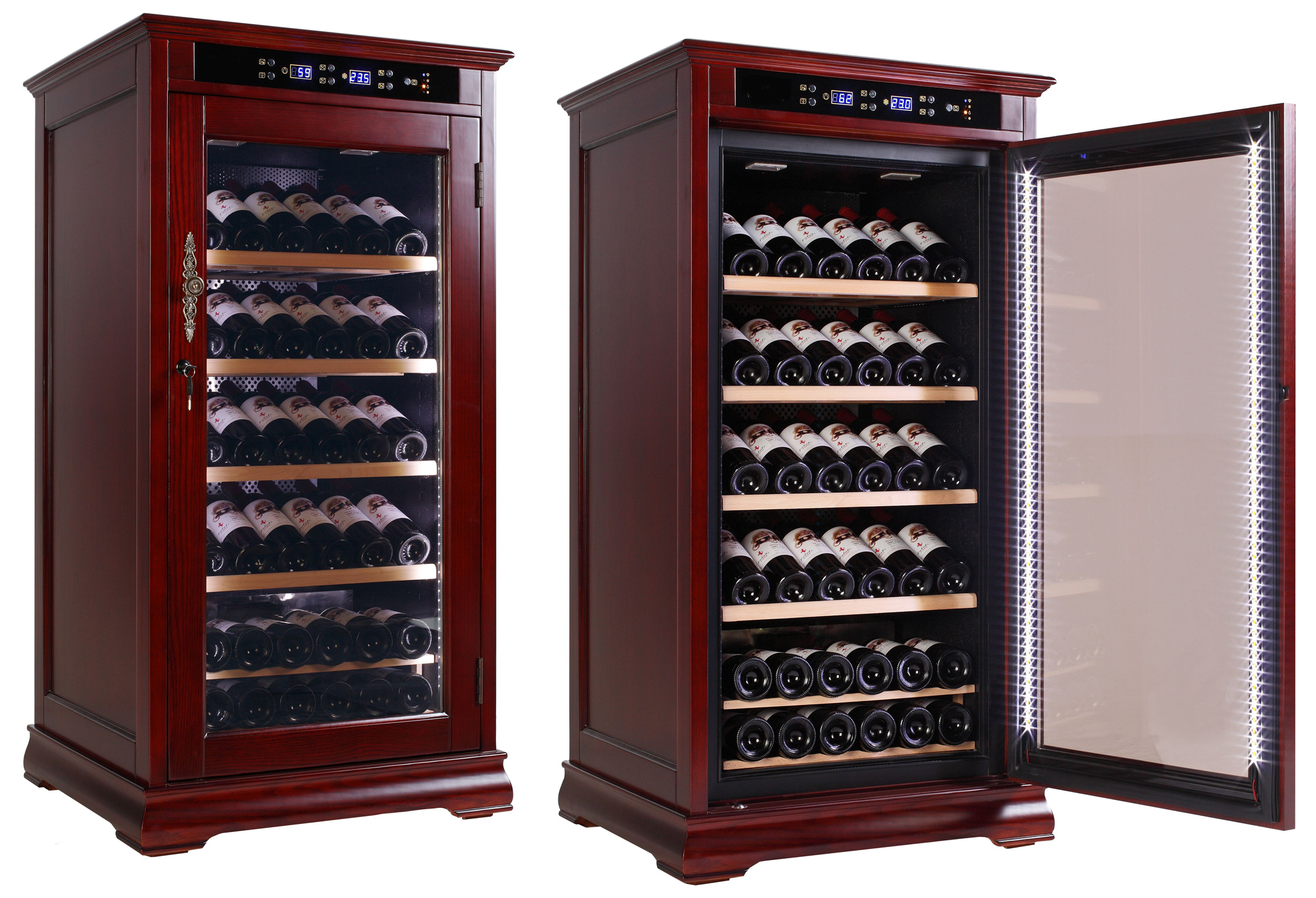 Wine Cooler Cabinet Refrigerator Temperature Controlled