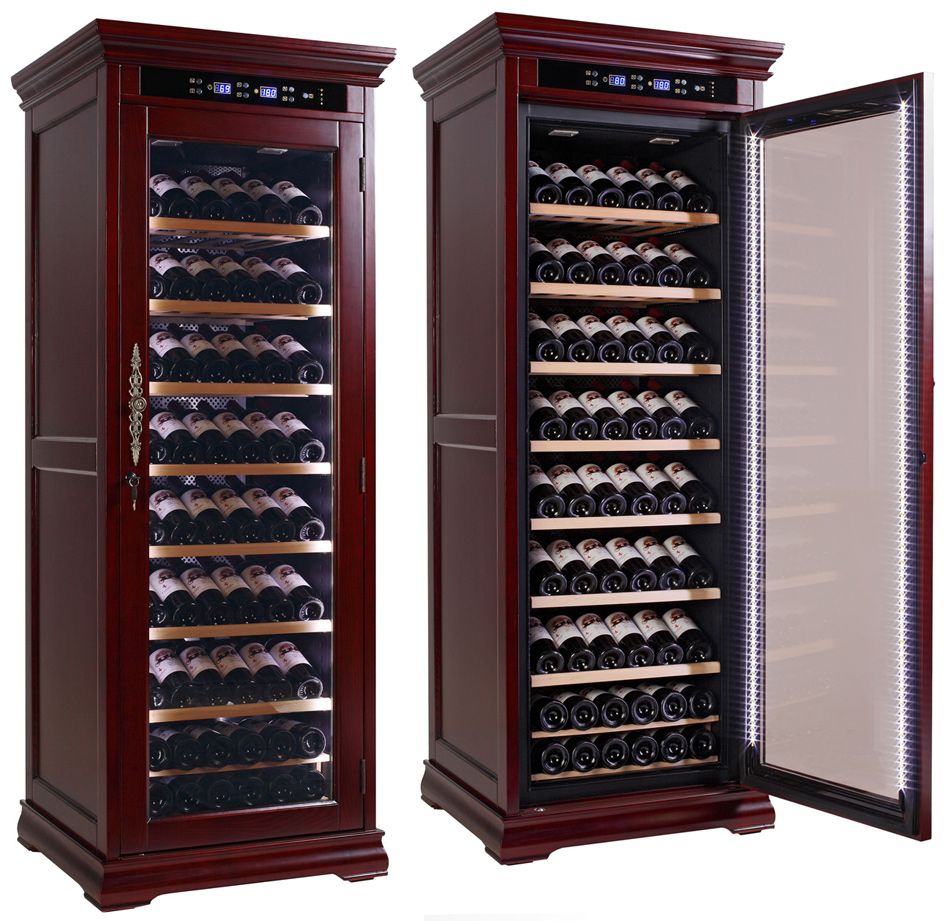 wine fridge cabinet solid wood electronic wine fridge cabinet adjustable 29305